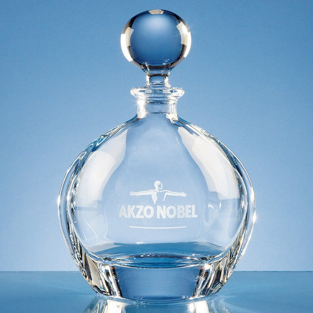 Crystalite Round Decanter - Bracknell Engraving & Trophy Services