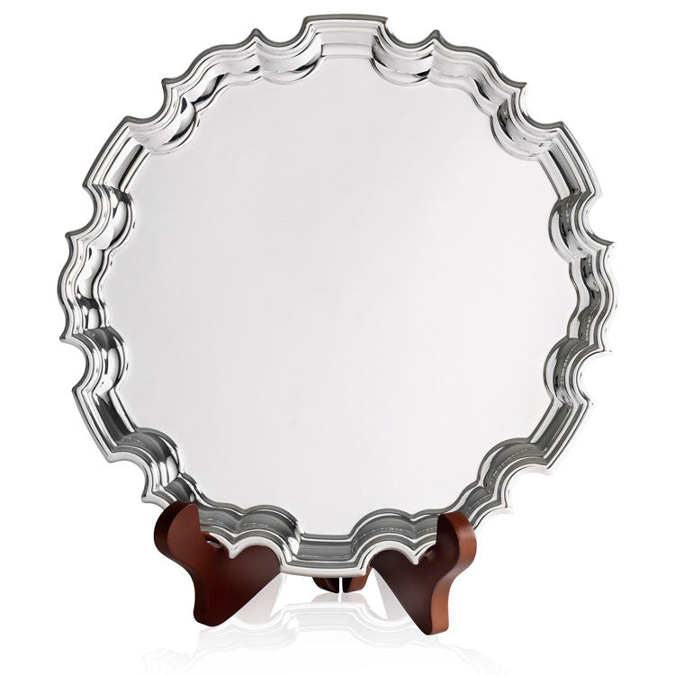 Silver Plated Chippendale Tray - Bracknell Engraving & Trophy Services