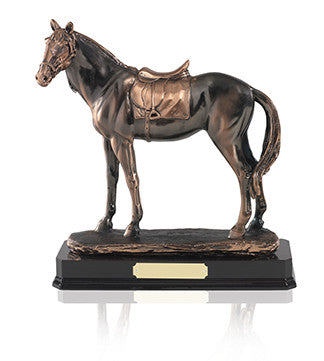 Antique Copper Plated Horse - Bracknell Engraving & Trophy Services
