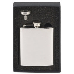 6oz Steel Flask with funnel Set