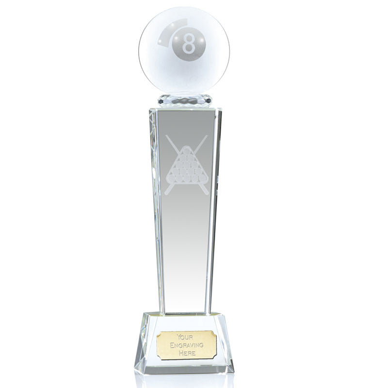 Optical Crystal Pool Trophy - Bracknell Engraving & Trophy Services