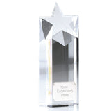 KK148 Optical Crystal Star Award - Bracknell Engraving & Trophy Services