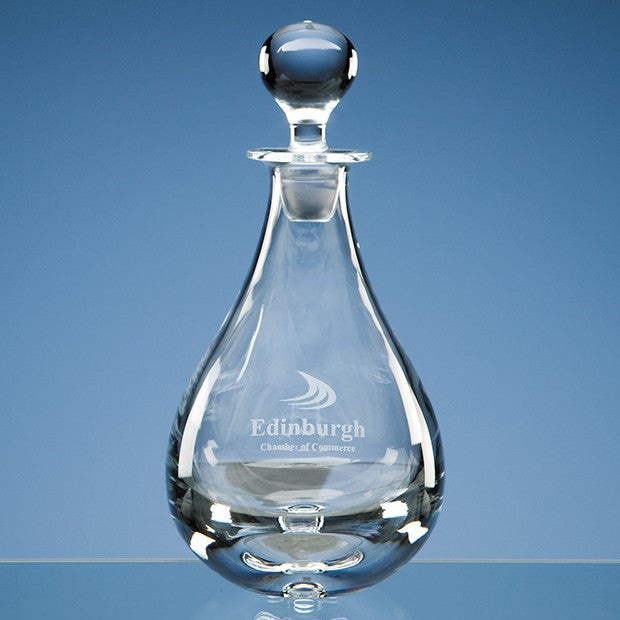 Handmade Teardrop Wine Crystal Decanter - Bracknell Engraving & Trophy Services