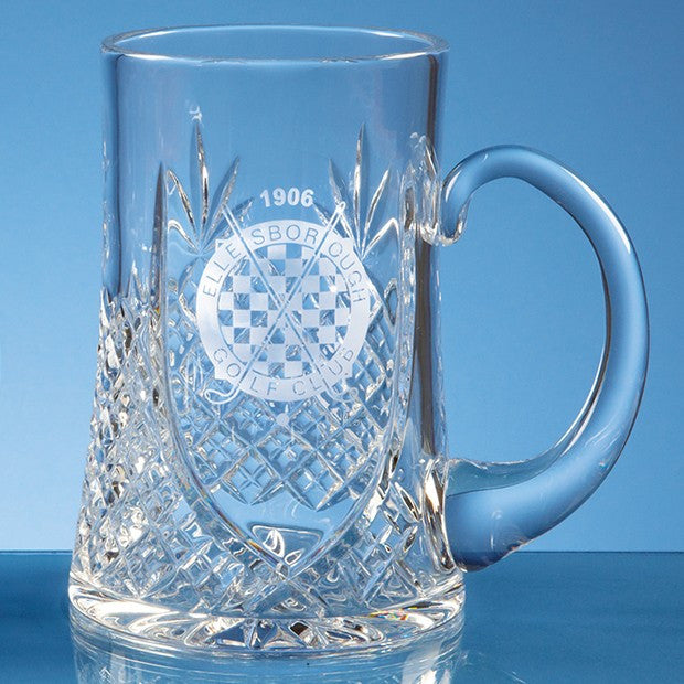 Lead Crystal Panel Tankard - Bracknell Engraving & Trophy Services