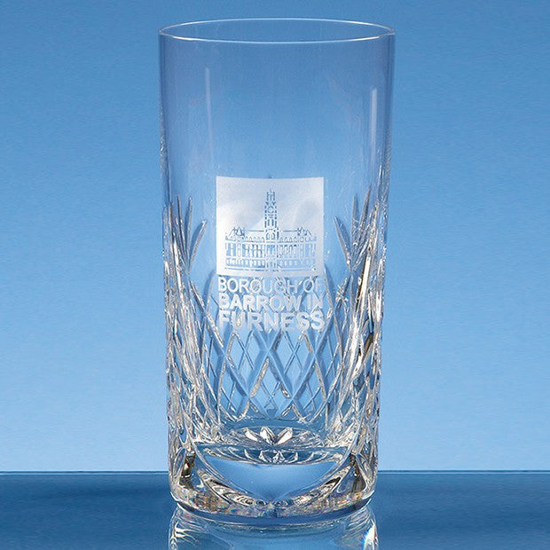 Blenheim Lead Crystal Panel High Ball - Bracknell Engraving & Trophy Services
