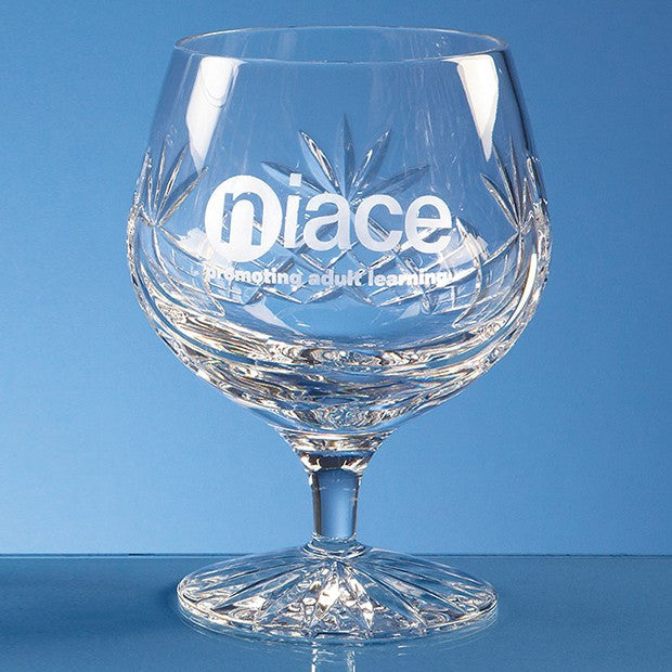 Blenheim Lead Crystal Panel Brandy Glass - Bracknell Engraving & Trophy Services