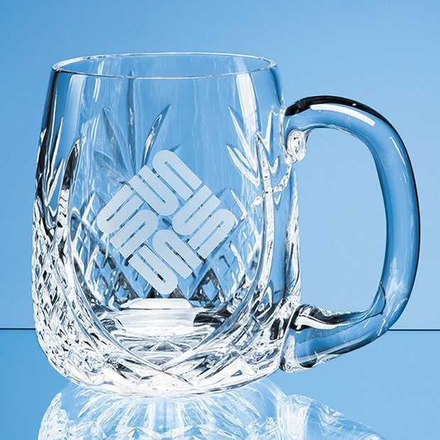 LOS1 Lead Crystal Barrel Panel Tankard