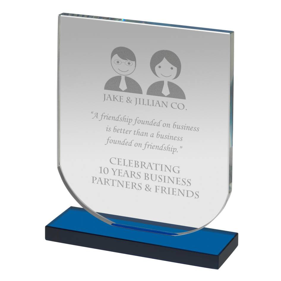 NTC005 Glass Award - Bracknell Engraving & Trophy Services
