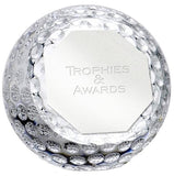 Orb Glass Golf Paperweight - Bracknell Engraving & Trophy Services