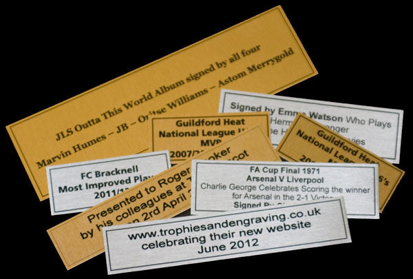 Printed Trophy Plaque - Bracknell Engraving & Trophy Services