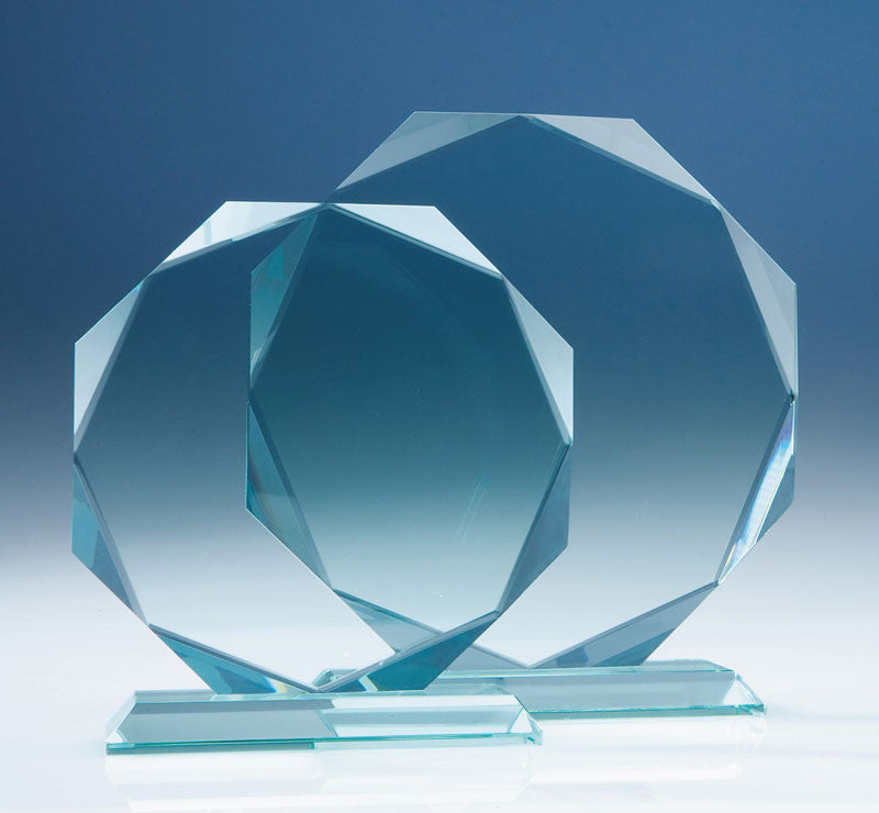 Jade Facetted Octagon Award - Bracknell Engraving & Trophy Services