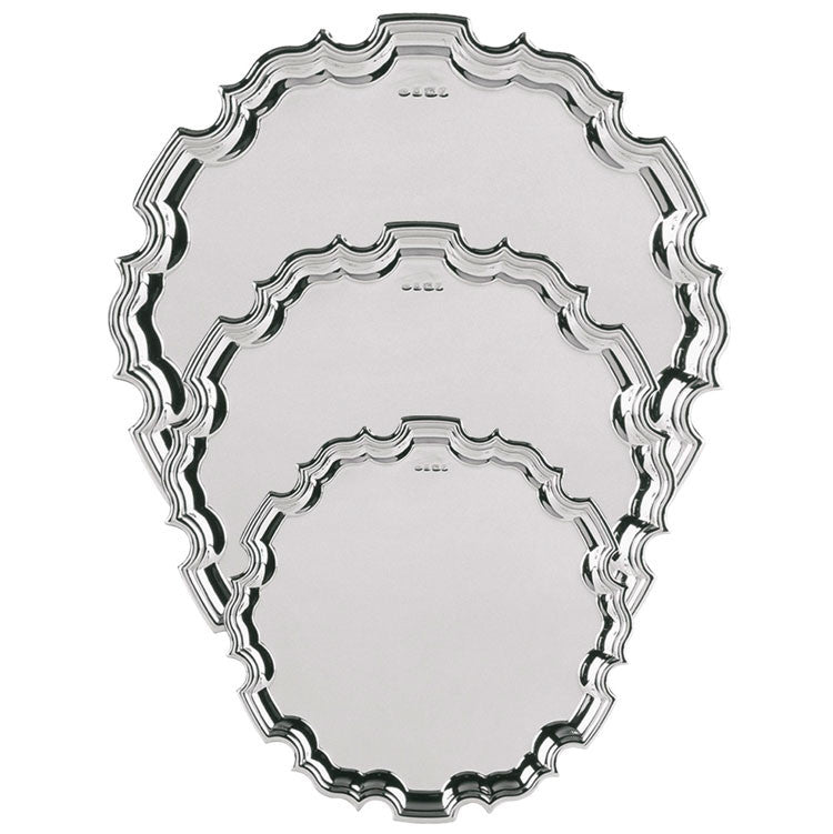 Hallmarked Silver Chippendale Tray