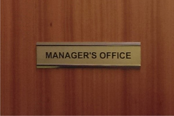 Laminate Engraved Door Sign - Bracknell Engraving & Trophy Services