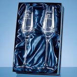 2 Diamante Champagne Flutes in a Presentation Box - Bracknell Engraving & Trophy Services
