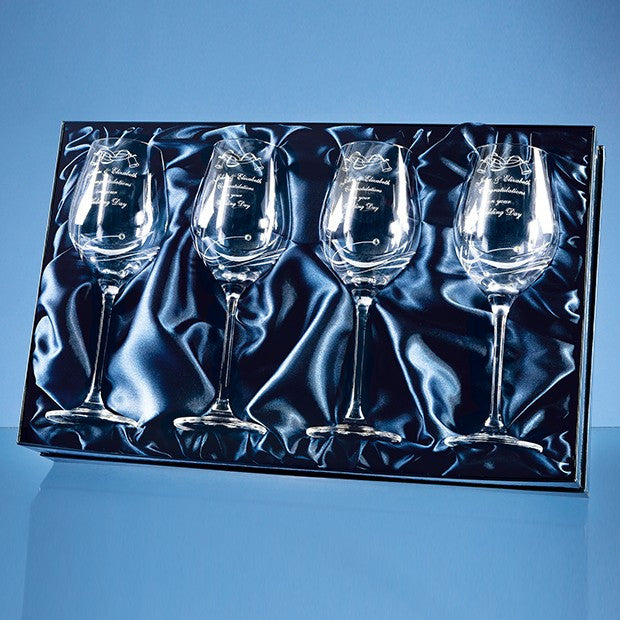 Diamante Wine Glasses (Set of 4) - Bracknell Engraving & Trophy Services