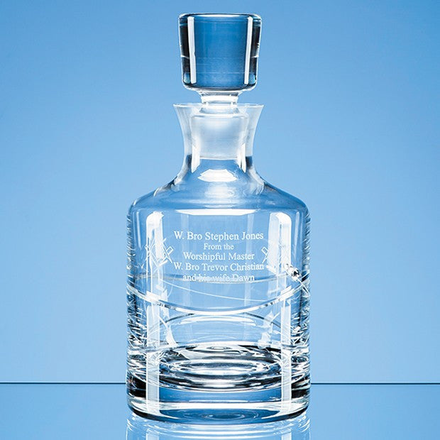 Diamante Spiral Round Decanter