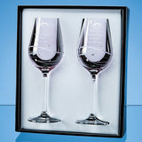 2 Pink Diamante Wine Glasses Spiral - Bracknell Engraving & Trophy Services