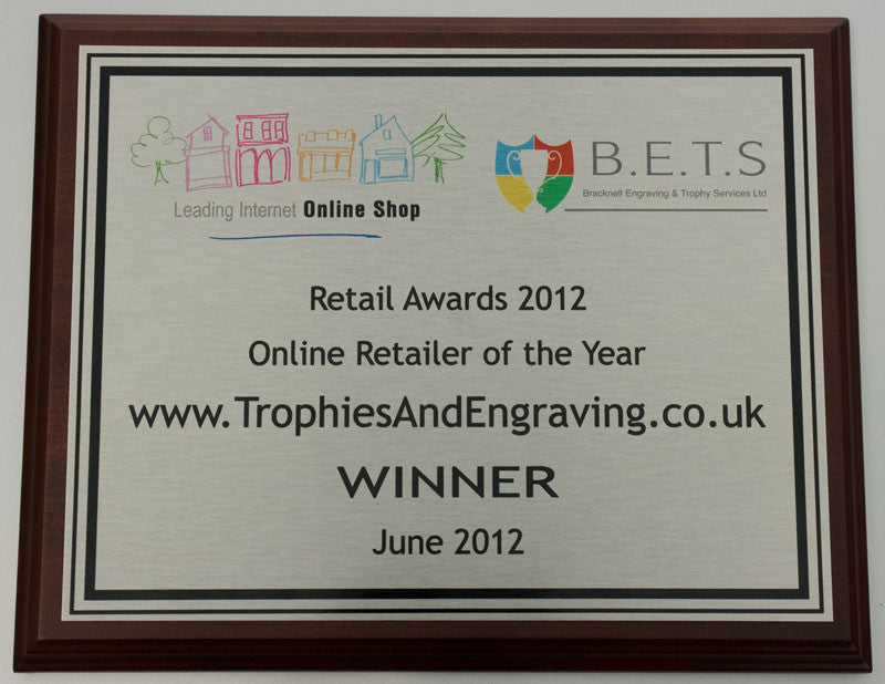 Full Colour Presentation Wall Plaque - Bracknell Engraving & Trophy Services