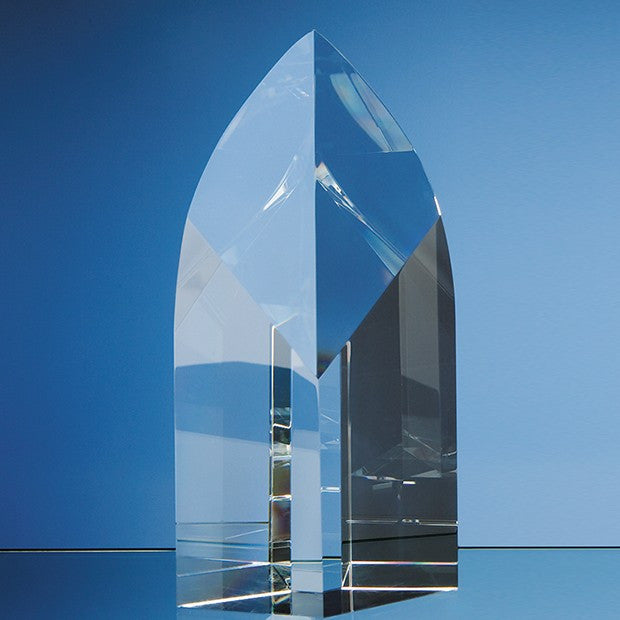 Optical Crystal Arch Award - Bracknell Engraving & Trophy Services