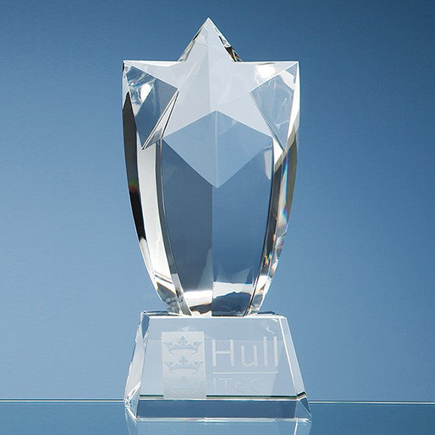 Optical Crystal Starburst Award - Bracknell Engraving & Trophy Services