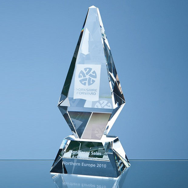 Optical Crystal Glacier Award - Bracknell Engraving & Trophy Services