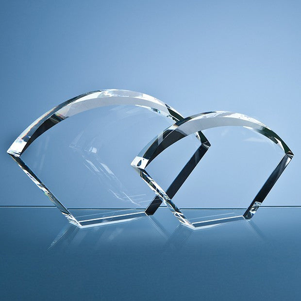 Optical Crystal Bevelled Arch Award - Bracknell Engraving & Trophy Services