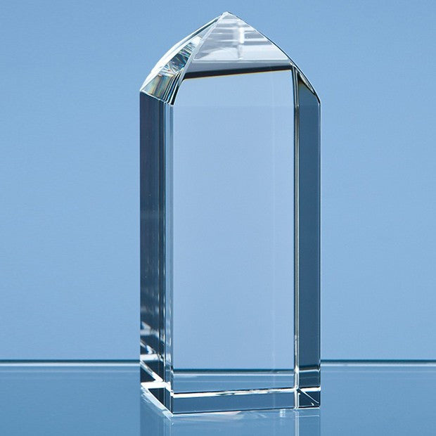 Optical Crystal Mini Tower Rectangle Award - Bracknell Engraving & Trophy Services