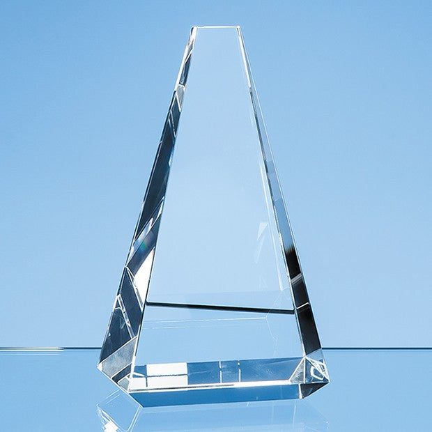 Optical Crystal Vantage Peak Award - Bracknell Engraving & Trophy Services