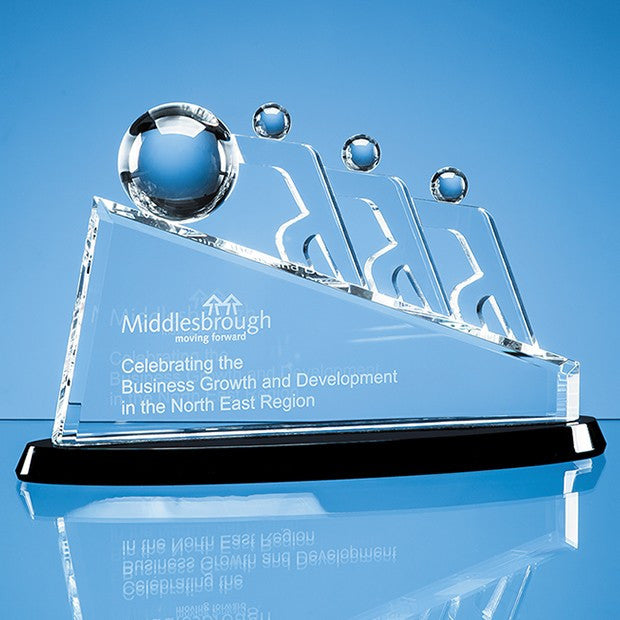 Optical Crystal Sloped Teamwork Award - Bracknell Engraving & Trophy Services