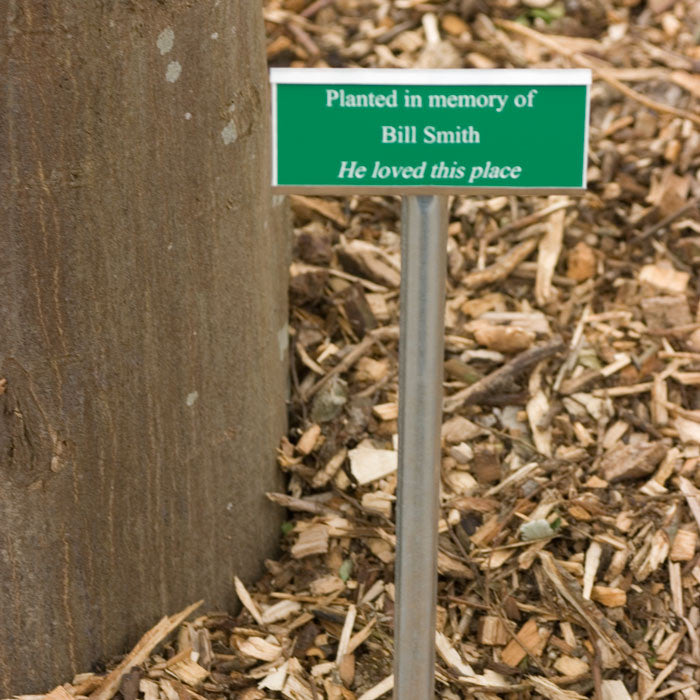 Tree Marker/Memorial Plaque - Bracknell Engraving & Trophy Services