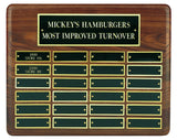 Walnut Annual Plaque - 24 Plates - Bracknell Engraving & Trophy Services