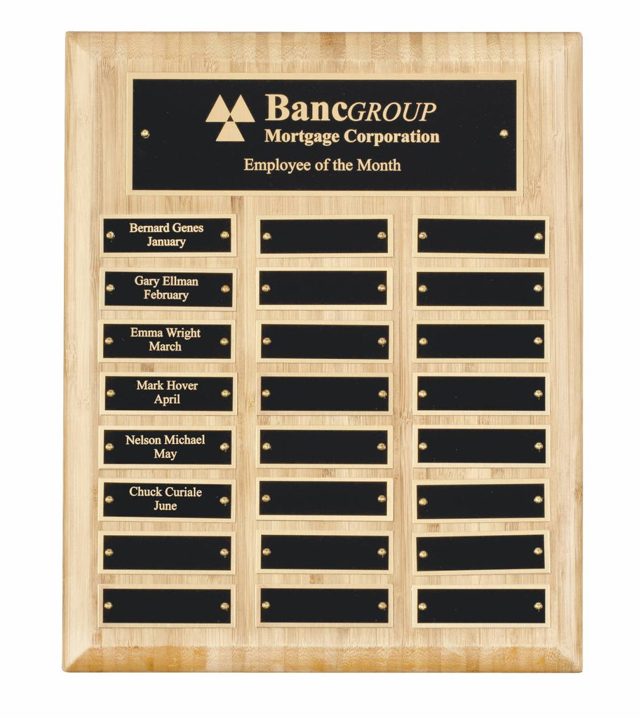 Bamboo Wooden Plaque - 24 Records