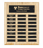 Bamboo Wooden Plaque - 24 Records - Bracknell Engraving & Trophy Services