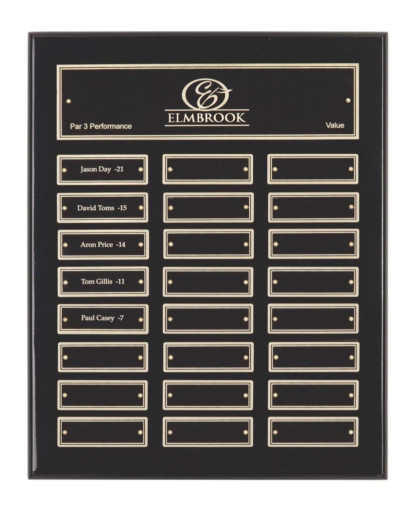 Gloss Black Plaque - 24 Records