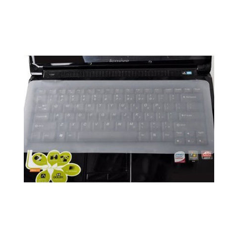 Skque Universal Clear Silicone Keyboard Protector Skin for Laptop Notebook