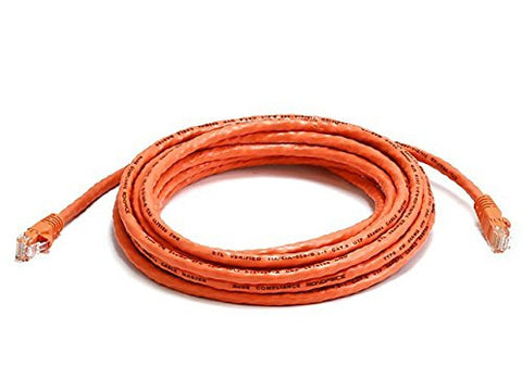 Monoprice 14-Feet 24AWG Cat6 550MHz UTP Ethernet Bare Copper Network Cable, Orange (103415)