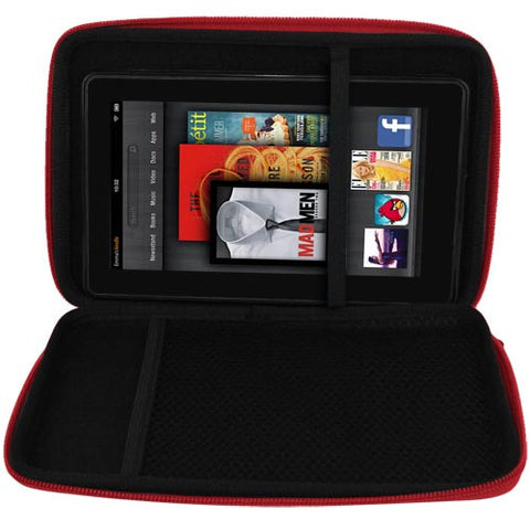Skque Hard EVA Case Cover for Amazon Kindle Fire-red hard case