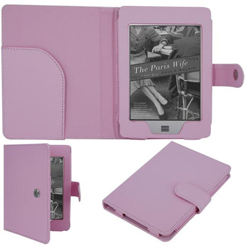 Skque Pink Leather Case For Kindle Touch [Electronics]
