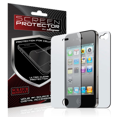 iPhone 4 Screen protector,Skque® Apple iPhone 4G Dual Clear Screen protector