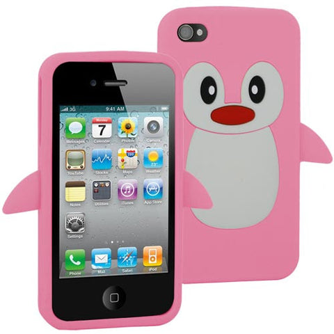Skque Penguin Silicone Skin Case for Apple iPhone 4 4S Green [PC]