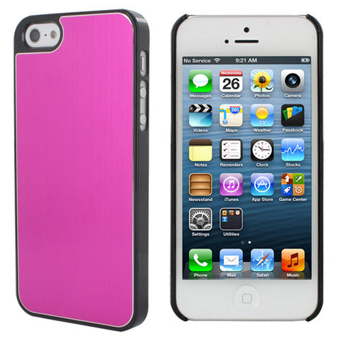 Skque Aluminum PC Hard Case for Apple iPhone 5, Hot Pink