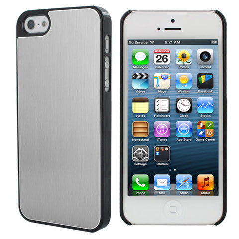 Skque Aluminum PC Hard Case for Apple iPhone 5, Silver