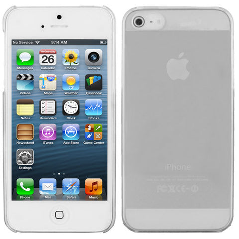 Skque Ultra Thin Transparent Crystal Case for Apple iPhone 5,Clear