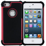 Skque Hybrid Polycarbonate Silicone Hard Case for Apple iPhone 5,red