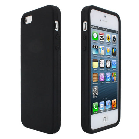 Skque Silicone Skin Case Cover for Apple iPhone 5,Black