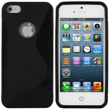 Skque TPU Gel Case Cover for Apple iPhone 5,Black