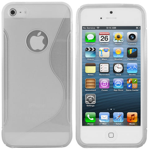Skque TPU Gel Case Cover for Apple iPhone 5,clear