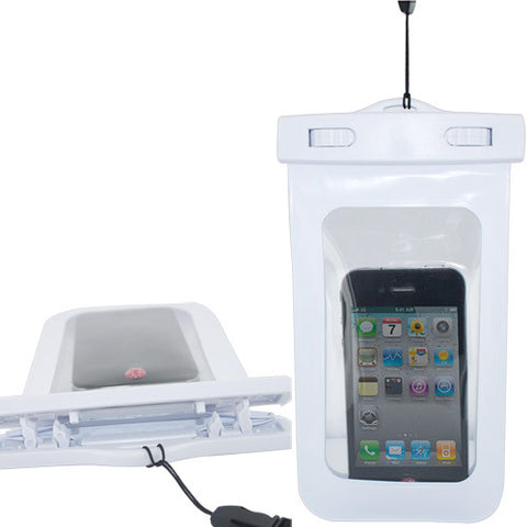 Skque Water Proof Pouch Case Bag for Apple iPhone 3, 3GS, 4, 4S, White