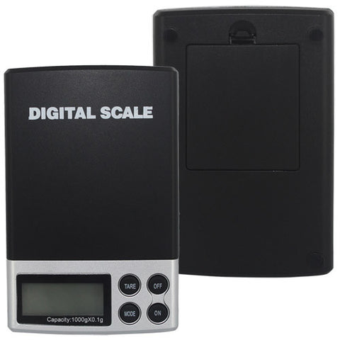 Skque Mini Pocket Digital Jewelry Scale with LCD Display, Capacity 0.1 x 1000 Gram, Silver