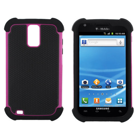 Galaxy S2 TMOBILE T989 case,Hybrid Impat Hard Case Cover for SAMSUNG Galaxy S II 2 TMOBILE T989,Hotpink